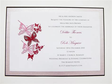 butterfly wedding invitations buttery design invites