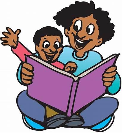 Child Reading Clipart Parent Clip Children Wikiclipart