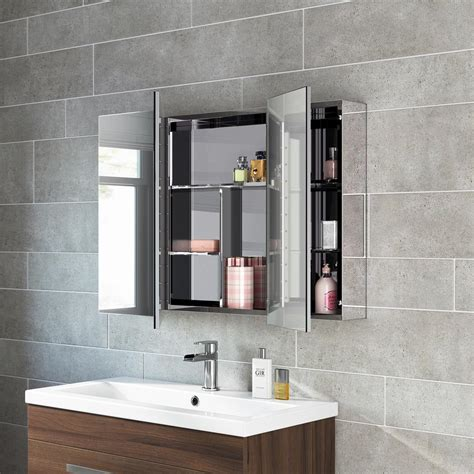 bathroom mirror storage unit wall mirrored cabinet mc