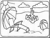 Coloring Pages Bikini Beach Ball Getcolorings sketch template