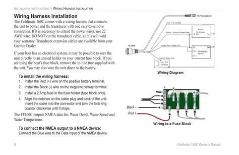Garmin 160 Fishfinder Wiring Diagram by Wiring Harness Installation Garmin 160c User Manual
