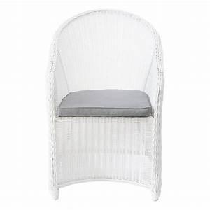 Fauteuil De Jardin Blanc : fauteuil de jardin en r sine tress e blanc mykonos maisons du monde ~ Teatrodelosmanantiales.com Idées de Décoration