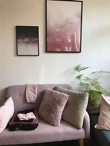 Rosa Wandfarbe Bilder Ideen COUCH