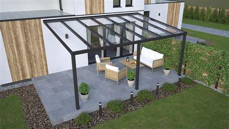 terrassenüberdachung glas alu alu terrassen 252 berdachung in anthrazit 5x3m mit glas terrassen 252 berdachungen venomenaal