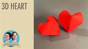 Herz Aus Papier Basteln : paper heart papier herz 3d origami ~ Lizthompson.info Haus und Dekorationen