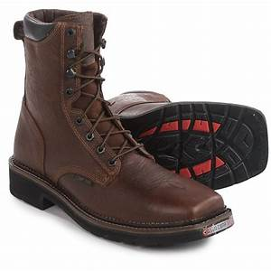 Justin Boots Lace-Up EH Work Boots (For Men) - Save 64%