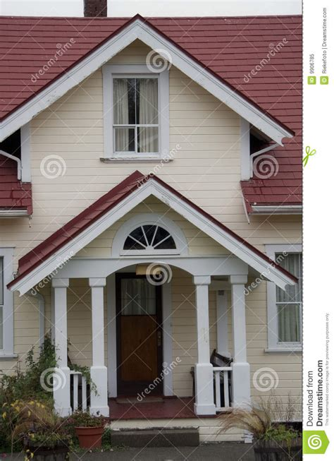 front porch  entry  craftsman style home royalty  stock photo image