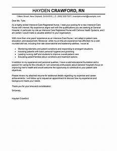 Leading Professional Intensive Care Nurse Cover Letter