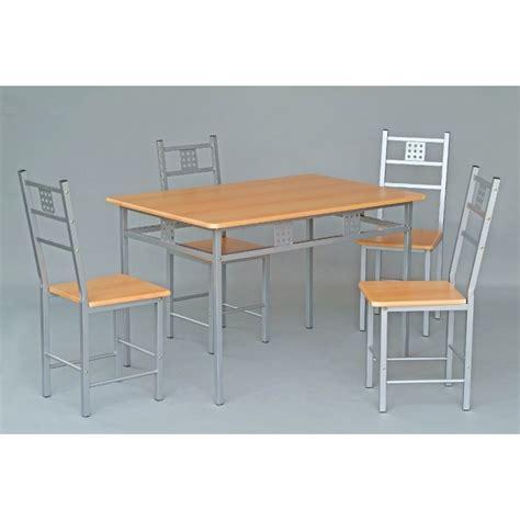 ensemble table chaises cuisine ensemble table et 4 chaises de cuisine panel meuble