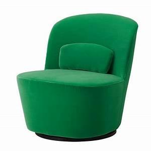 Fauteuil pivotant stockholm ikea marie claire maison for Petit fauteuil vert