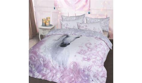 buy argos home pretty unicorn bedding set single duvet