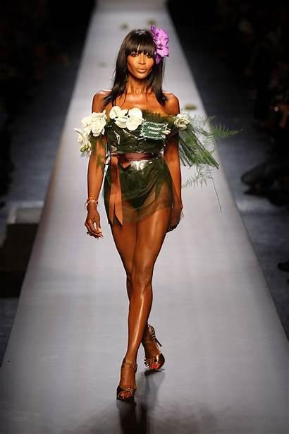 Naomi Campbell Runway Gaultier Paul Jean Paris