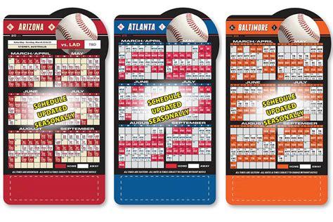 baseball shaped magnetic pro schedule calendar