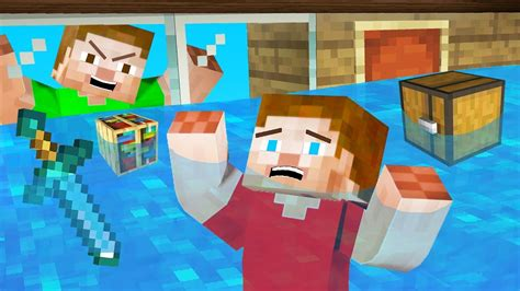 flooded  secret minecraft house  died youtube