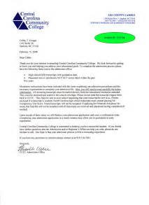 Sample College Admission Letters