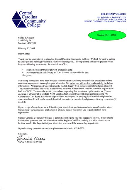 11937 college admission letter recommendation letter for college template resume builder