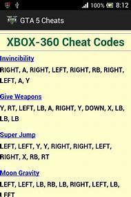 Gta V Cheats For Xbox 360