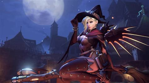 Animated Wallpaper Overwatch - overwatch mercy witch skin animated wallpaper 1440