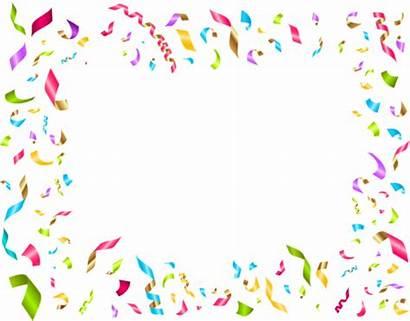 Confetti Birthday Party Clip Decoration Background Clipart