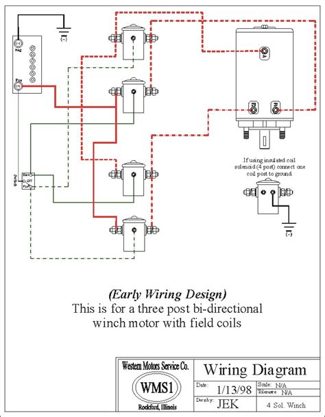 2 Solenoid Winch Wiring Diagram by Wms Drawings Western Motor Service Wms1