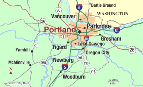 portland map toursmapscom