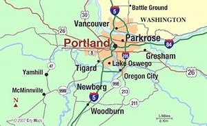 Portland Metro Map - ToursMaps.com
