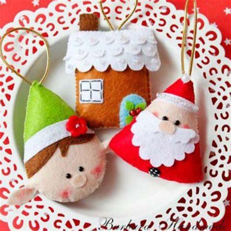 figuras navide 241 as de fieltro para decorar arbol de navidad