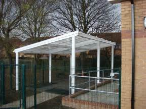 7m powder coated aluminium free standing canopy lean to