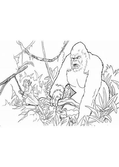 Kong King Coloring Pages Drawing Drawings Meets