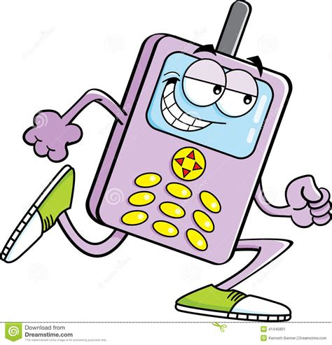phone running cell phone running stock vector image 41445801