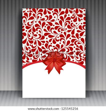vector valentines day flyer cover design stock vector
