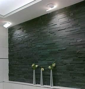 Pierre De Parement Intérieur : parement mur pierre naturelle 18x50cm laja noir ~ Melissatoandfro.com Idées de Décoration
