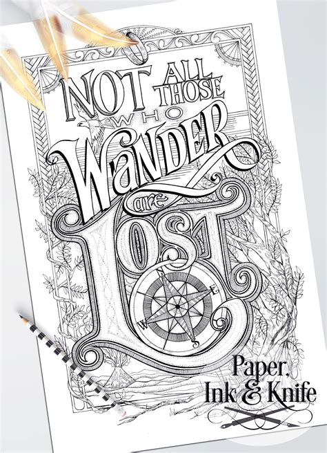 coloring poster set wise words paper ink  knife