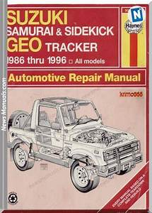 Suzuki Samurai Service And Repair Manuals