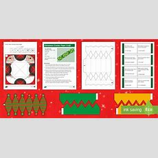 * New * Ks2 Make Your Own Christmas Crackers Activity Pack Christmas