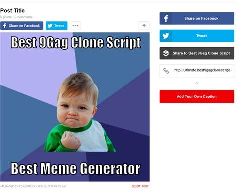 9gag Meme Maker - addons meme maker best 9gag clone script v29 2