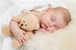 Cute Baby Sleeping With Teddy 2 - Baby Posters | OshiPrint.in
