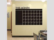 DIY 60x92cm Month Plan Calendar Chalkboard Blackboard