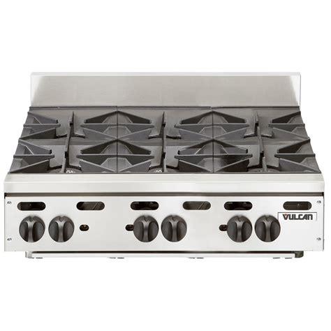 propane countertop stoves vulcan vhp636 liquid propane 36 quot 6 burner countertop range