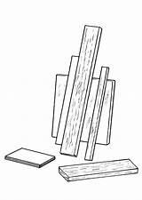 Bois Madera Kleurplaat Coloriage Dibujo Tablas Legno Disegno Colorare Colorear Holz Planken Houten Malvorlage Coloring Plaques Mensole Imprimir Mensola Dessins sketch template
