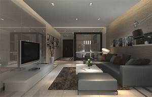 Design for interior of modern living room wall and ceiling for Modern ceiling design for living room