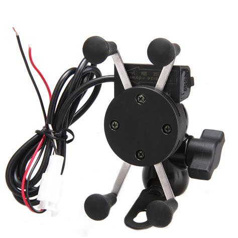 motorcycle cell phone holder universal adjustable usb motorcycle bike mount holder for
