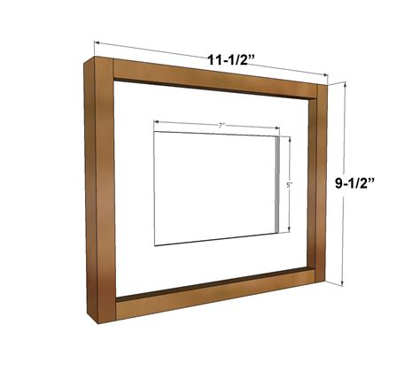 ana white simple wood gallery frame plans diy projects