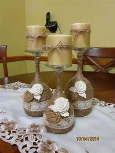 wine glass candle holder home decorating trends homedit With best brand of paint for kitchen cabinets with wine bottles candle holders