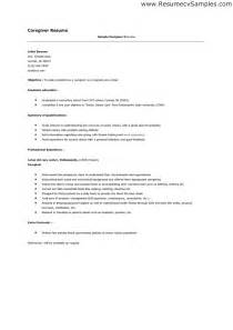 resume exles for caregivers 10 how to write a caregiver resume writing resume sle