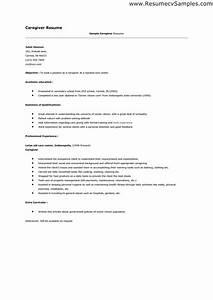 caregiver resume sample resume badak With caregiver resume sample