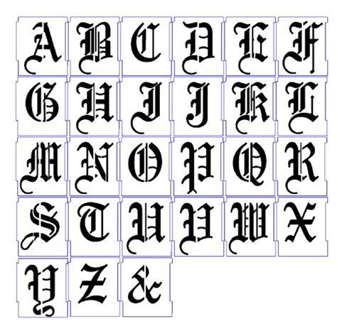 alphabet stencils airbrush stencils letter templates mm