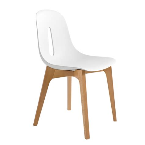 chaise bois blanc groupe sofive crealigne chaises woody a632