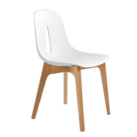 chaise blanc chaise bois et blanc maison design wiblia com