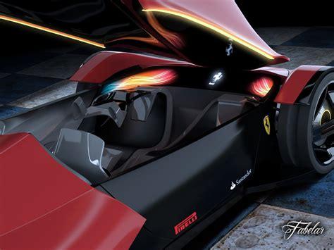 future ferrari models ferrari ineo concept 3d model rigged max obj 3ds fbx c4d